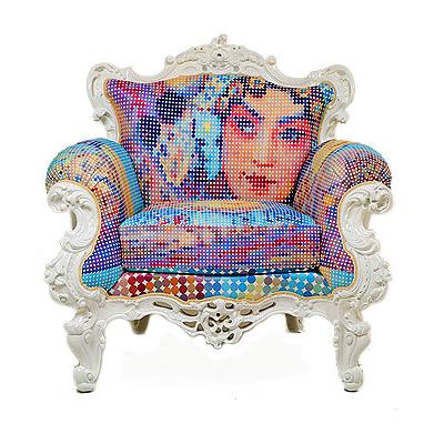 Meble stylowe Kare fotel